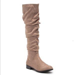 Catherine Malandrino Toni Ruched Knee High Boot
